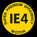 Logo motor de accionamiento Super Premium Efficiency IE4